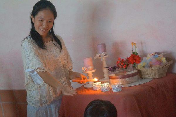 邀请寿星点蜡烛