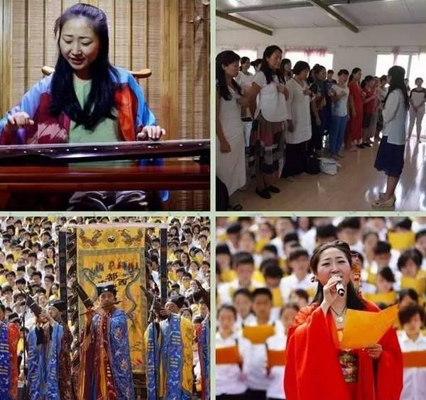 陈怡彤老师作为首席领唱者,在道教文化展示区带领千人吟唱《道德经》。