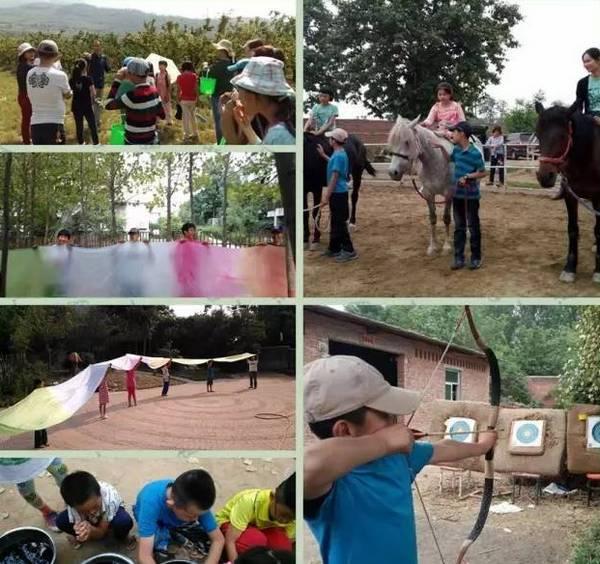终南山自然学校夏令营果园采摘、植物染丝绸及骑马、射箭活动